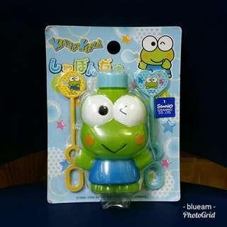 Sanrio 絕版 Keroppi 青蛙吹泡泡玩具