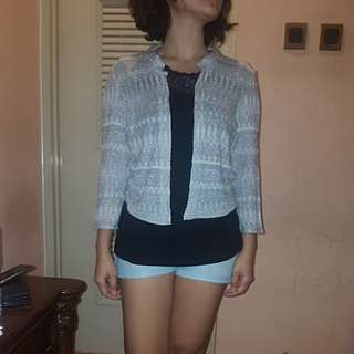 H&M outer silver