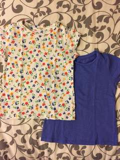 Mothercare Floral & Blue Top Set