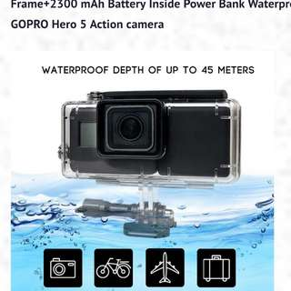 GoPro Hero 5 housing diving with attached powerbank