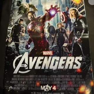 LARGE POSTERS - Avengers & Batman Begins (front & back)