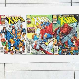 Marvel Comics Astonishing X-men 1 to 3 Complete 3 issue Mini-Series Very Fine /Near Mint Condition