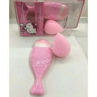 Hello kitty 2in1 Mermaid Brush + Sponge