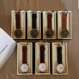 Daniel Wellington Leather Watches For Sale