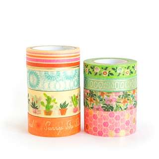 Palm Springs Washi Tape Tube by Craft Smart