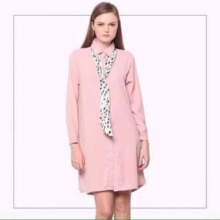 Adam Shirt Dress Baby Pink