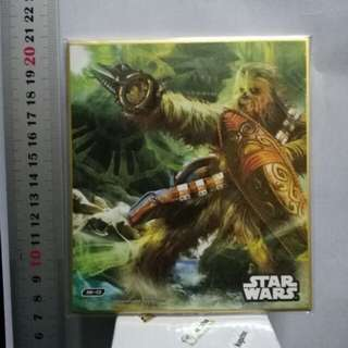 (made in Japan / genuine) Chewbacca Chewie Star Wars art