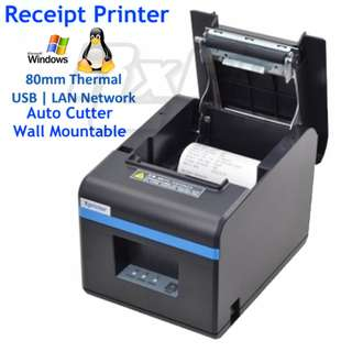 80mm Thermal Receipt Printer POS Kitchen Cutter (USB or LAN RJ11 Cash Drawer Port) n160ii