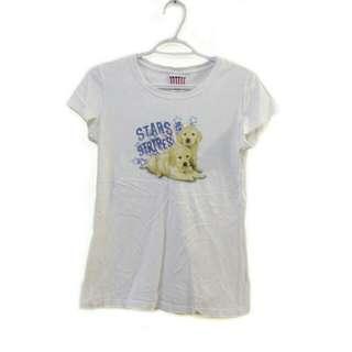 White shirt with dog print