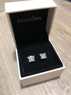 Pandora butterfly earrings