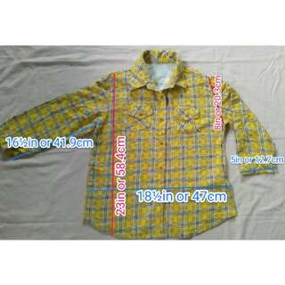 Unisex Yellow Buttondown Shirt