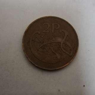 Ireland 1971 2p coin