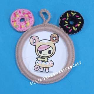 💕 Crochet Photo Frame / Donutella & friends