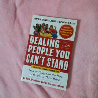 Dealing with people you can't stand ~ retail sgd26.50