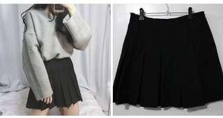 Black Pleated Skirt (Kpop Style)