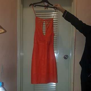 Zara orange dress