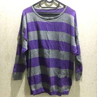 Purple Stripes Sweater
