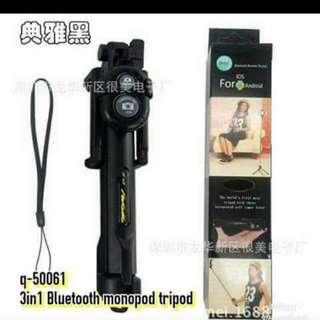 Bluetooth Monopod Tripod