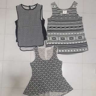 Black & White Series Tops