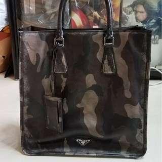 Prada 迷彩 真皮 Tote Bag 公事包 男