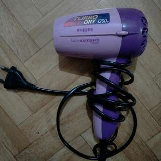 Philips Turbo Dry 1200w Hairdryer