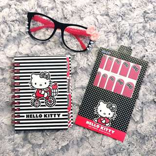 Hello Kitty Diary Glasses and Nail Stickers
