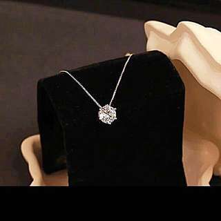 [Clearance] 925 Sterling Silver With Crystal Diamond Necklace