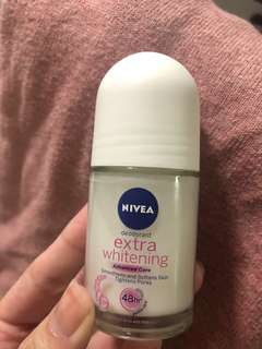 Nivea deodorant extra roll on whitening 48 hours extra care (25ml)
