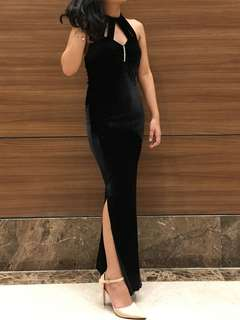 BLACK LONG GOWN DRESS