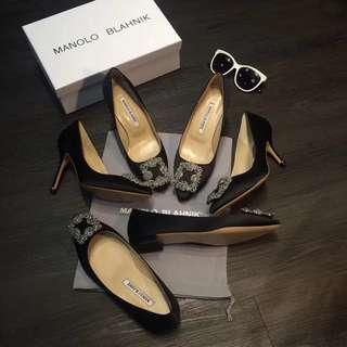 Manolo blahnik 鑽石 高爭鞋 平底鞋 訂製
