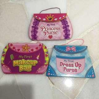 My first princess purse, makeup bag, dress up purse