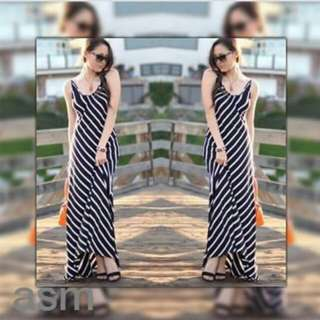 ☘️ summer stripes maxidress