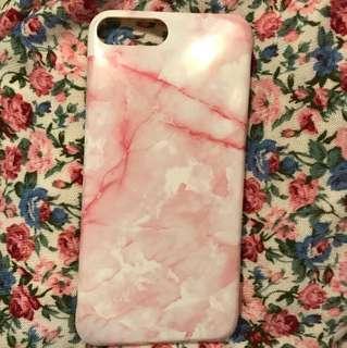Iphone7 plus粉紅雲石軟殼