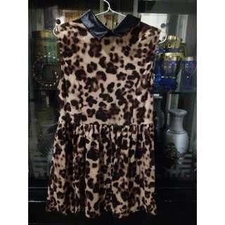 Dress velvet leopard