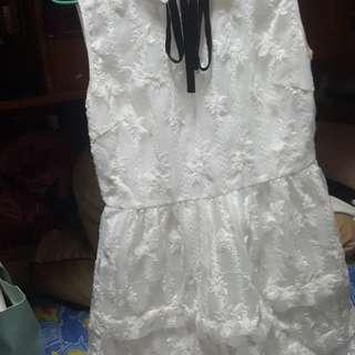 手工超精致的白裙子