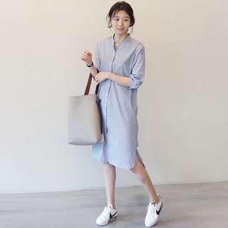 Light Blue Maxi Oversize Dress