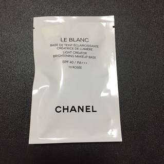 Chanel Le Blanc light creator Brightening Makeup Base SPF 40 / PA +++ 10 Rosee 2.5ml