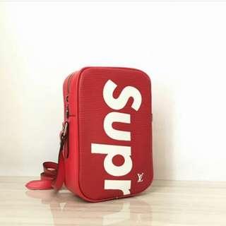 LOUIS VUITTON SUPREME SLING BAG RED