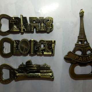 Bottle Opener Ref Magnet Metal 60each