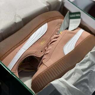 PUMA SUEDE TRAINERS (PINK/GUM/WHITE)