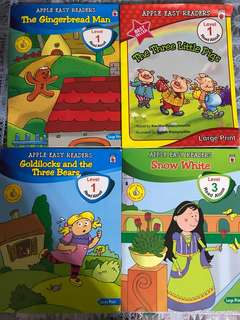 PL Apple easy readers books (4books)