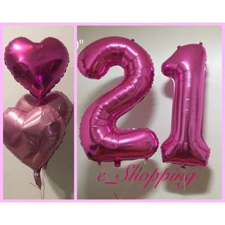 Pink Foil Balloon Set