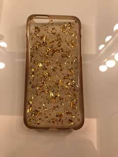 iPhone 6/6s Gold Flake Silicon Transparent Case