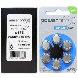 Cochlear Battery Power One Implant Plus p675 60pcs(1 Box)