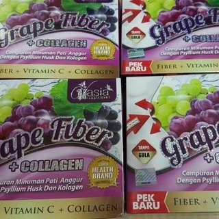 V asia grape fiber + collagen