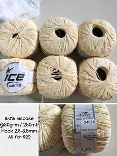 Ice 100% viscose yarn