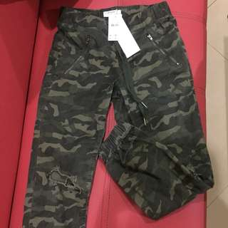 COTTON ON ARMY/CAMO RIPPED JOGGER PANTS SIZE 2