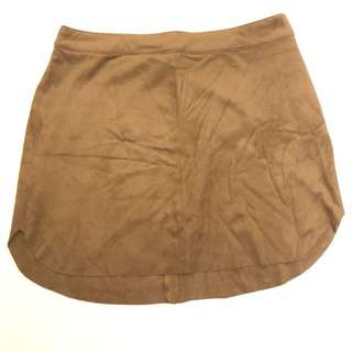 Bought in LA - F21 Suede Sand Skirt
