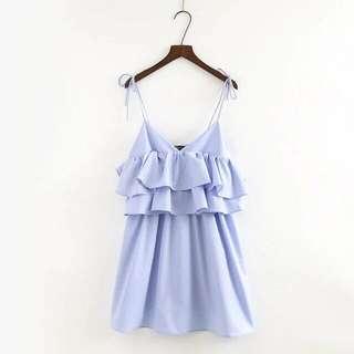 Zara inspired tier ruffle strap resort dress