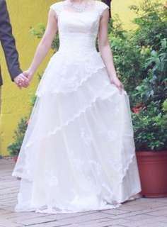 pre wedding 白色 背心婚紗